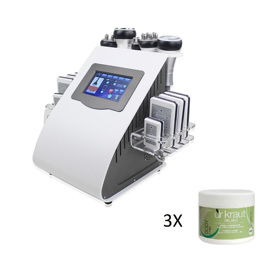 Aparat Radiofrecventa, Cavitatie, Vacuum si Lipolaser – 6 in 1 – CADOU 3 Creme Corporale Dr Kraut